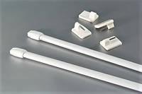 Карниз мини 40-60 см белый (металл, пара) для фиранок