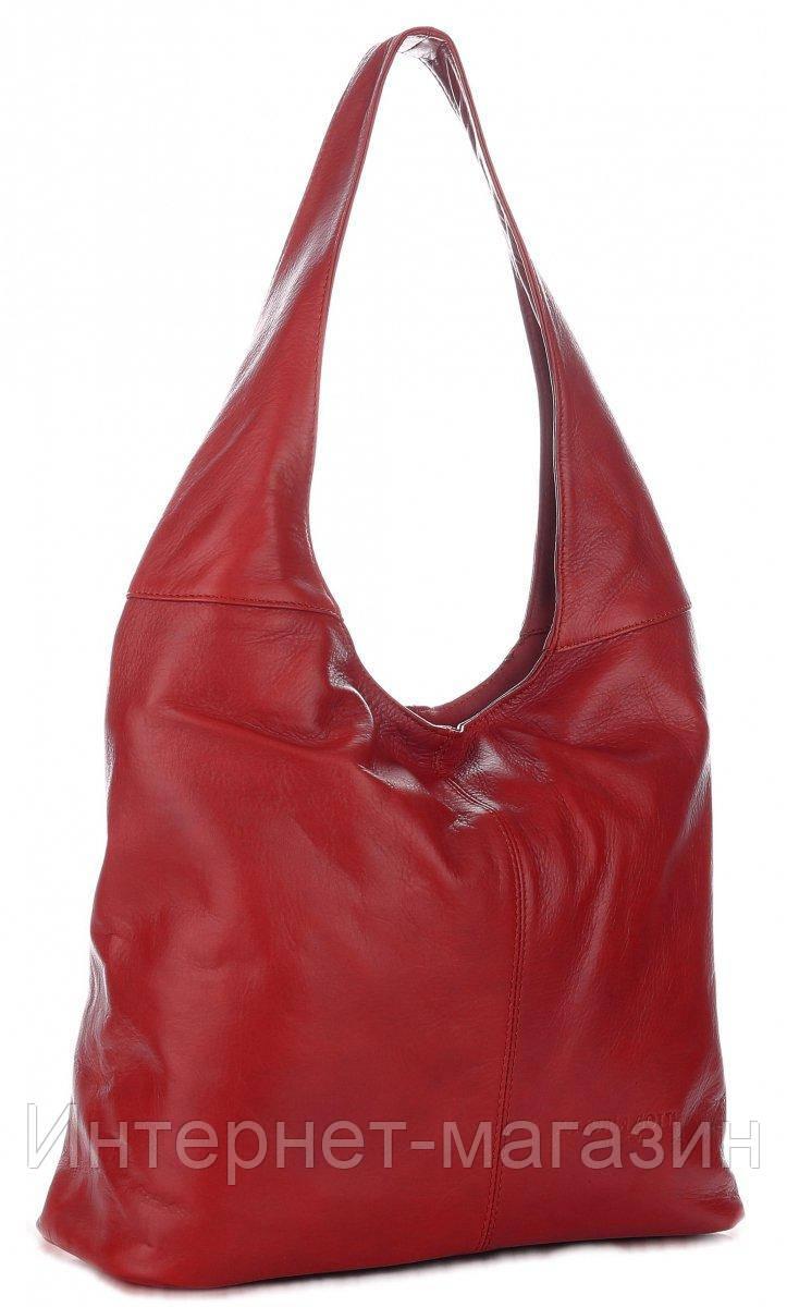 d0a1ce6ecfb1 Универсальная итальянская сумка VITTORIA GOTTI из натуральной кожи,  красного цвета - Интернет-магазин