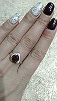 Серебряное кольцо 925пробы с вставкой золота 375пробы.