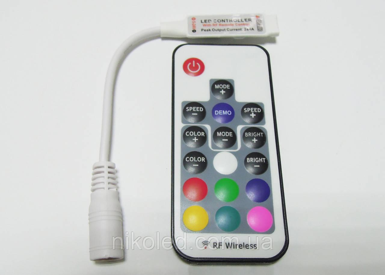 Контроллер mini 6А с пультом на 17 кнопок RF