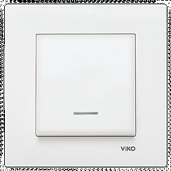 Выключатель с подсветкой VIKO Karre Белый 90960019