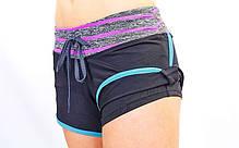 Короткі шорти для занять в тренажерному залі жіночі Under Armour CO-1721-2, фото 2