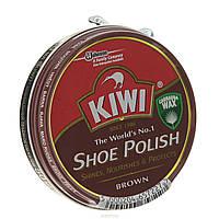 КРЕМ для обуви KIWI Shoe Polish коричневый.
