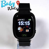 Детские умные часы Smart Watch GPS трекер Q90/Q100 Black / детские ЧАСЫ - ТЕЛЕФОН / Гарантия