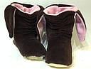 """Велюровые """"Ушки"""" домашние женские сапожки Бирюза- теплый подарок близким!! Размер 36/37, фото 3"""