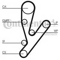 Ремень ГРМ (комплект) + помпа CONTI CT1148WP1