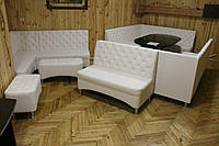Белые угловые диваны для кафе ресторанов и зон отдыха
