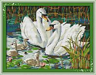 """Набор для вышивания крестом картина """"Лебеди"""""""