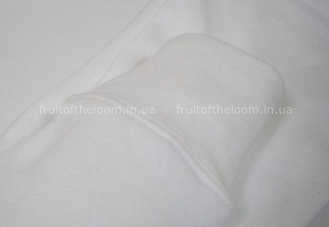 Белая женская премиум толстовка с капюшоном на замке