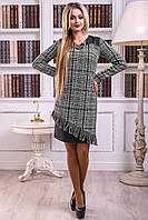 Платье 12-2428 -  черно-белый: М L XL