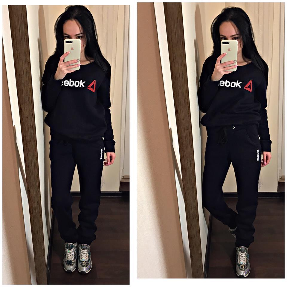 eccb82f3 Женский спортивный костюм Reebok на флисе - Интернет-магазин спортивной  одежды