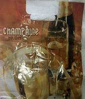 Пакет Нивея Шампанское  с прорезной ручкой