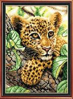 """Набор для вышивания крестом картина """"Леопард"""""""