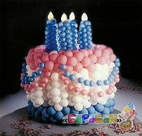 """Торт из воздушных шаров """"Сладкие четыре"""""""