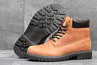 Мужские ботинки Timberland Зима. Кожа Мех 100% Коричневые 3639