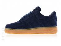 Женские кроссовки Nike Air Force Blue Suede