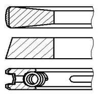 Кольца поршневые STD Iveco Daily, Fiat Ducato 2,3JTD 2,5/2/2,5 NPR
