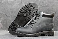 Мужские ботинки Timberland Зима. Кожа Мех 100% Серые 3637