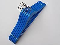 Плечики детские деревянные синие, 36 см, 5  штук в упаковке