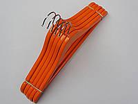 Плечики детские деревянные оранжевые, 36 см, 5  штук в упаковке