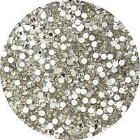 Стразы 100 шт. аналог сваровски Сrystal Ss3. (1.3мм) белые