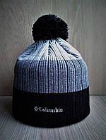 Зимняя тёплая шапка Коламбиа с бубоном