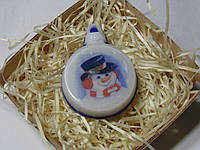 """Мыло """"новогодняя игрушка  снеговик"""""""