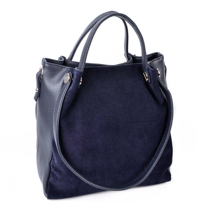 77e6f895692c Замшевая сумка М130-39/замш синяя с ручками на плечо - Интернет магазин  сумок