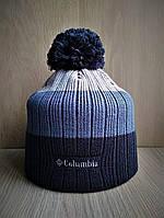 Стильная тёплая шапка Коламбиа с бубоном