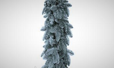 Новогодняя искусственная хвойная гирлянда 300х23 см ( Голубая )