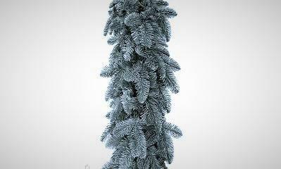 Новогодняя искусственная хвойная гирлянда 300х23 см ( Голубая ), фото 2