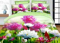 Белье постельное. Постель из микросатина с 3d эффектом. 2-спальный комплект постельного белья.