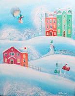 """Новогодняя открытка """"Снежок"""", фото 1"""