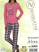 Пижама женская  с  длинным рукавом  Nicoletta 86894, фото 1