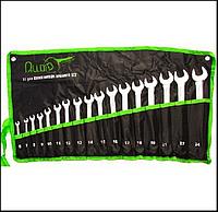 Alloid. Набор ключей комбинированных, 17 предметов,  6-24 мм.