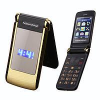 Телефон-раскладушка на 2 сим-карты Newmind V518 GOLG, фото 1