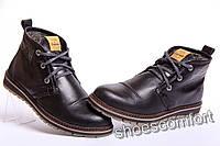 Clarks Urban Tribe - кожаные зимние мужские ботинки черные