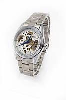 """Мужские механические наручные часы Слава """"Созвездие"""" серебристые с серебристым ремешком"""