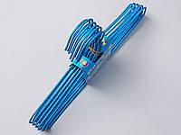 Плечики детские проволочные в порошковой покраске голубые , 29,5 см, 10 штук в упаковке