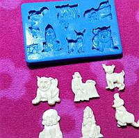 Молд силиконовый собаки -символ года
