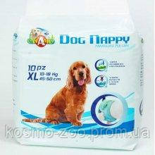 Подгузники для собак Dog Nappy, размер XL 10-18 кг (45-50см), 10шт\уп