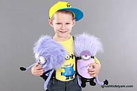 Миньон злой фиолетовый из Гадкий Я, новый дизайн, 35 см. злой миньон, фиолетовый миньон