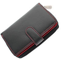 Женский кожаный кошелек Visconti CD22 black-red