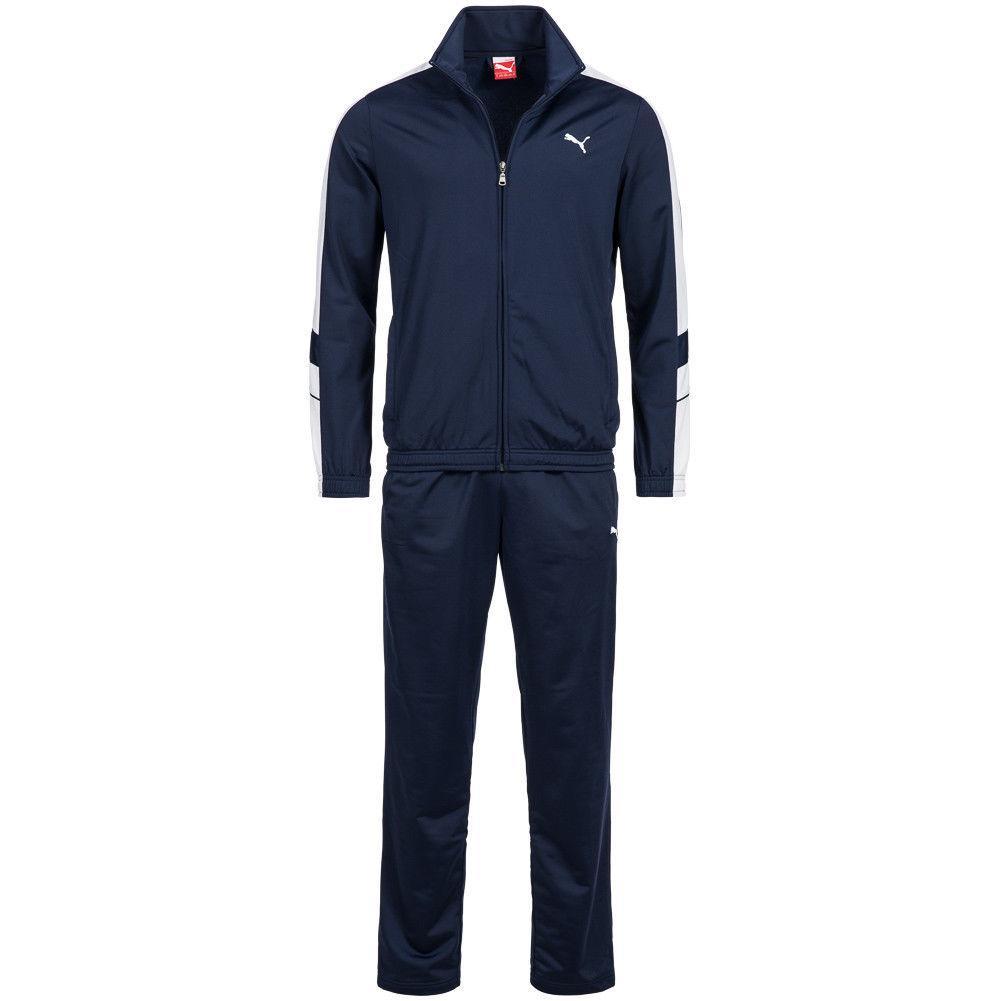 a8377c80 Костюм спортивный мужской Puma Poly Suit Training 819298 40 (синий,  эластик, для тренировок