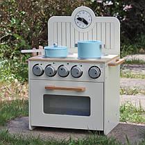 Детская деревянная кухня  Wooden Toys Mini + посуда, фото 2