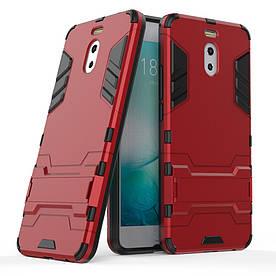 Чехол накладка для Meizu M6 Note противоударный силиконовый с пластиком, Alien, красный