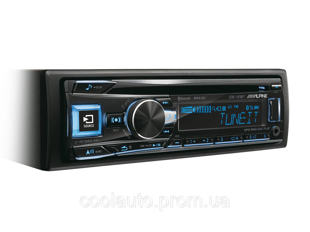 CD/MP3-ресивер Alpine CDE-193BT - Интернет-магазин CoolAuto (Кулл Авто) в Харькове
