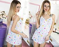 Красивая женская ночная сорочка с принтом Код:523515811