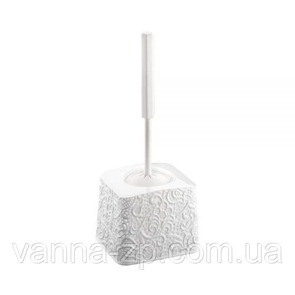 Ершик для унитаза ажурный пластик белый
