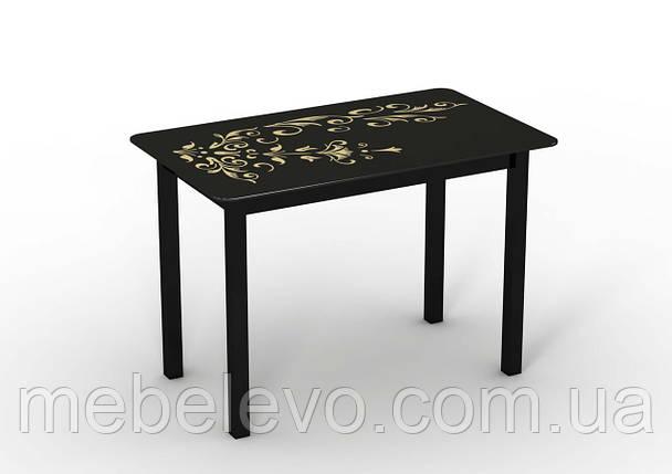 7f0d2d5e9 Стол дерево + стекло Монарх Черный зефир 750х1100х640мм Sentenzo, ...